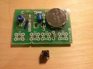 Circuit board with the button removed